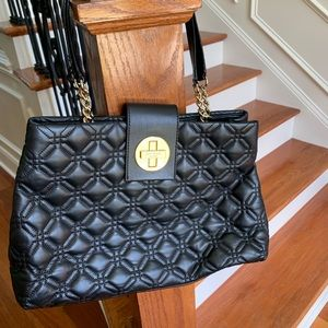 EUC Authentic Kate Spade quilted black purse